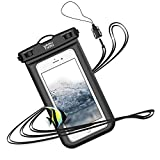 防水ケース スマホ用 iPhone Android に対応 [IPX8認定] 防水携帯ケース スマホ 水中 撮影 タッチ可 お風呂 水泳 釣り 海 プール 旅行 雨 雪 温泉など適用
