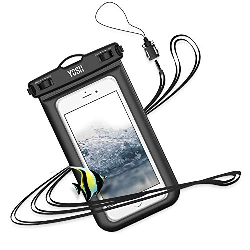 防水ケース スマホ用 iPhone Android に対応 [IPX8認定] 携帯 水中 撮影 タッチ可 風呂 雪遊び 水泳 海など...