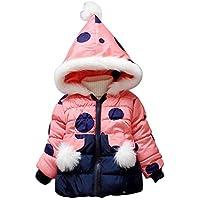 XFentech Baby Polka Dot Winter Down Jackets - Zipper Puffer Hooded Coats Thicken Warm Outwear Parka