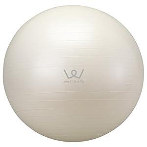 ALINCO(アルインコ) バランスボール 65cm エアーポンプ付 WB125 ホワイト