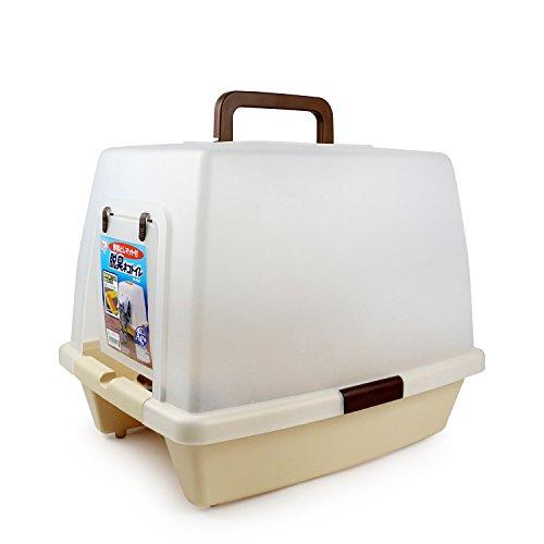 砂落としマット付脱臭ネコトイレ SN-520 ライトブラウン