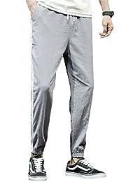 (ゆうや)YoYeah メンズ カジュアル パンツ オールシーズン ロングパンツカジュアル 夏 ゆったり 通気性 カジュアルストレート ファッション オシャレストレッチ スリム