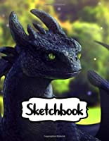 Sketchbook: Hiccup Astrid Cute Couple How To Train Your Dragon Toothless Night & Light Fury The Viking Village Hidden Dragons World, Doodling or Sketching, Notebook to Draw, Doodle and Journal (Workbook and Handbook) 110 Pages 8.5 x 11 Inches.