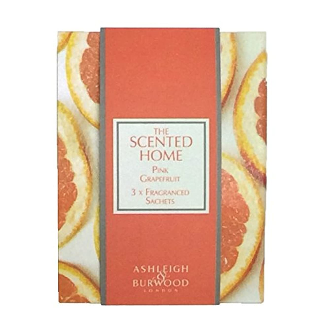 バーマドスペインレスリングAshleigh&Burwood サシェ×3個 ピンクグレープフルーツ Sachet×3 Pink Grapefruit アシュレイ&バーウッド