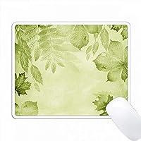 柔らかい緑色の水彩画の背景にかなり緑色のオーバーレイを残す PC Mouse Pad パソコン マウスパッド