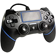 【PS4バージョン5.55対応】PS4 コントローラー FPS 有線 USB接続 加速度センサー 6軸 重力感応 HD振動 高耐久ボタン ゲームパッド 日本取扱説明書付き 握り心地がいい