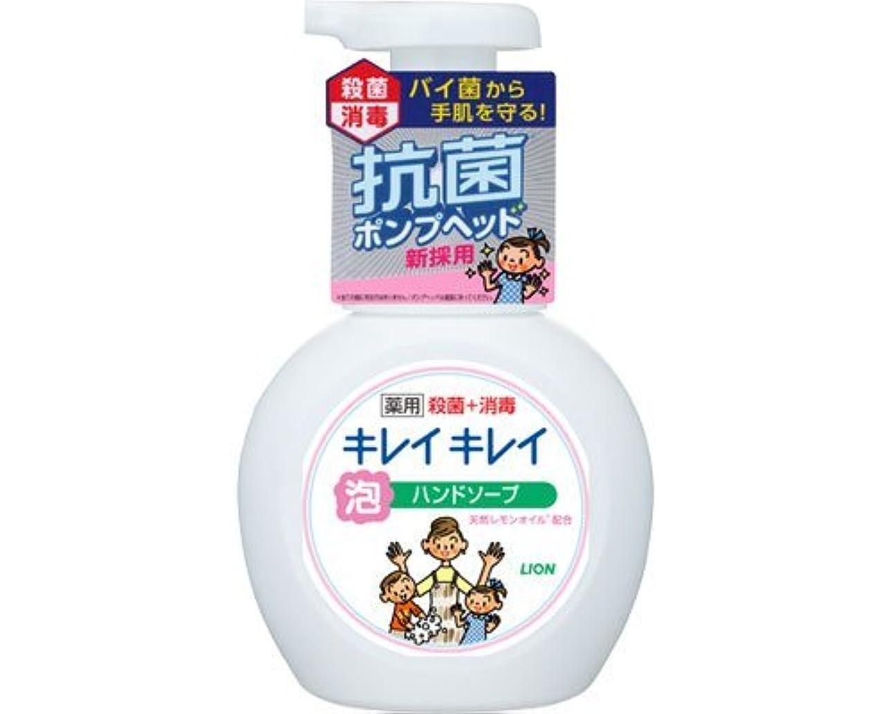 障害者バブルマニュアルキレイキレイ薬用泡ハンドソープ 250mLポンプ (ライオン) (手指洗浄)