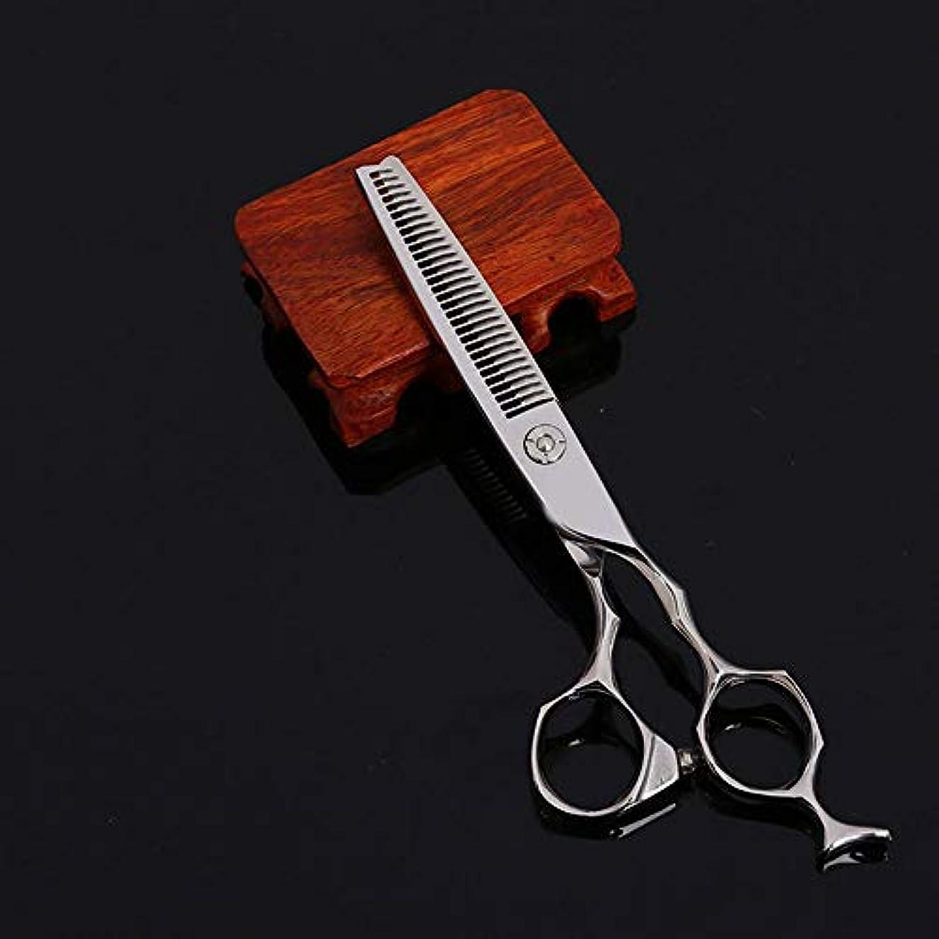 予約湾有益な440C物質的な前髪の理髪はさみ、6インチの美容院の専門の理髪はさみ モデリングツール (色 : Silver)