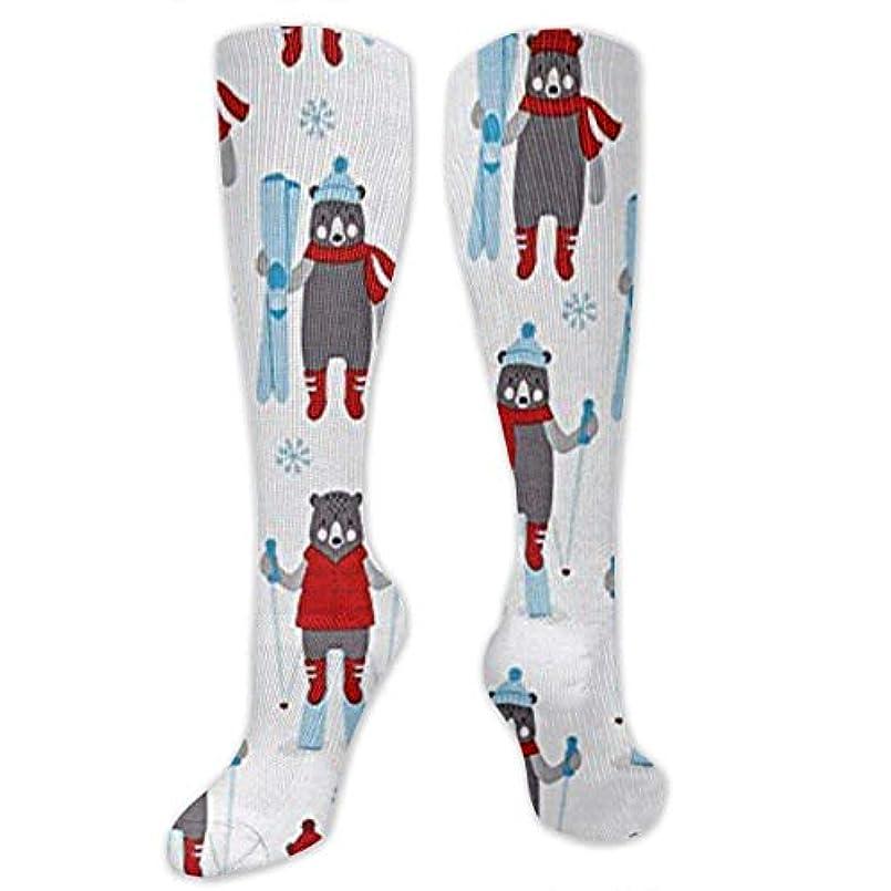 下手両方緯度靴下,ストッキング,野生のジョーカー,実際,秋の本質,冬必須,サマーウェア&RBXAA Frosty Friends Skiers Snow Socks Women's Winter Cotton Long Tube Socks...