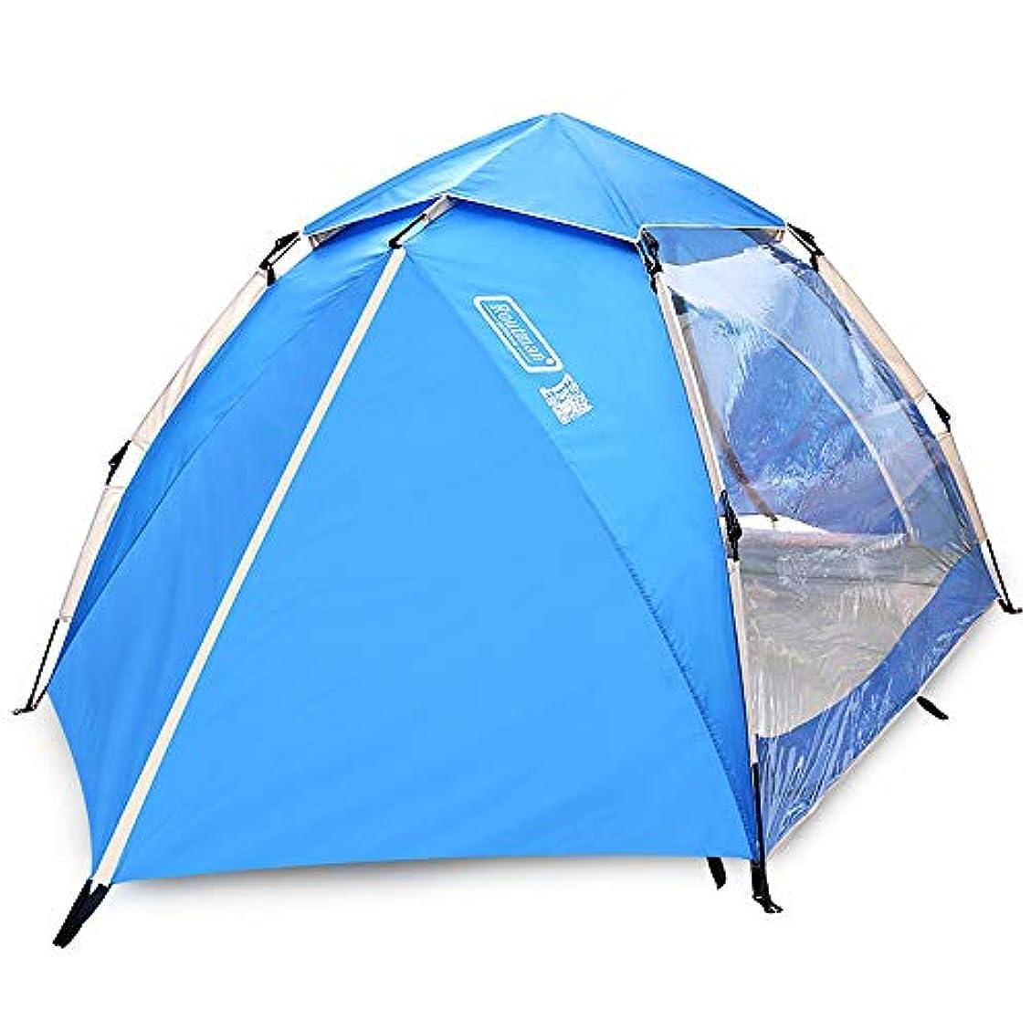 疑問を超えてダブルしてはいけない屋外の透明なテント、自動油圧テント、防水3-4人、野生のキャンプ