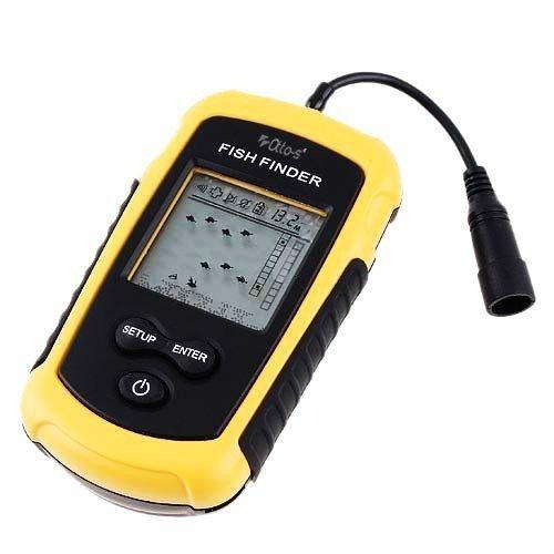 Qter-10 ポータブル魚群探知機 ワカサギ釣り・船釣り・ボート釣りに 携帯タイプ 使用バッテリー: 単4アルカリ×4本(別売)