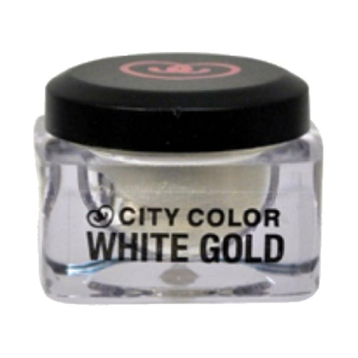 センチメンタル殺します指標CITY COLOR Shadow and Highlight Mousse - White Gold (並行輸入品)