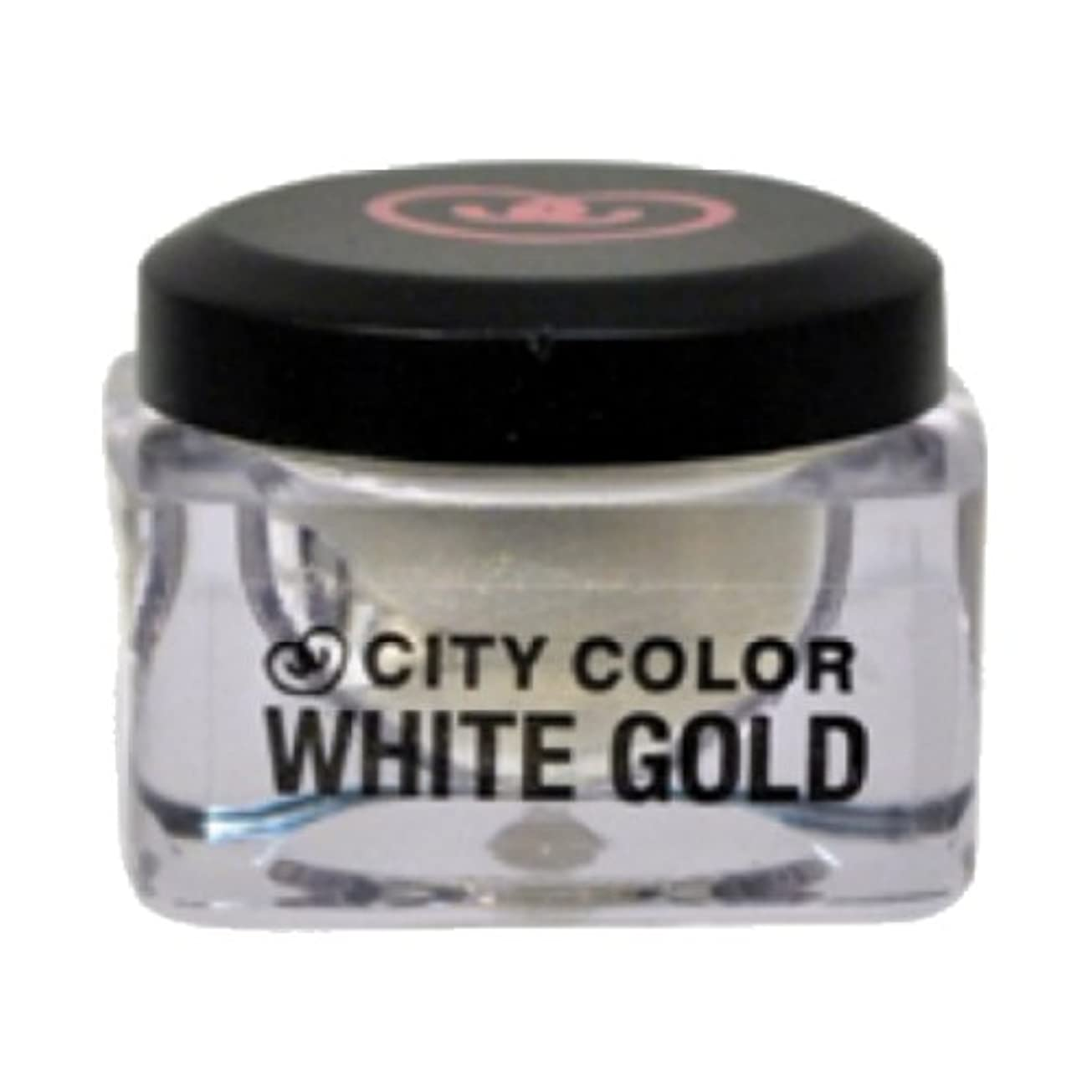 満たす見捨てられた全国CITY COLOR Shadow and Highlight Mousse - White Gold (並行輸入品)