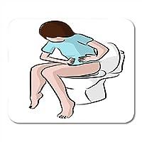 ノートブック、デスクトップコンピューター、マウスマット、オフィス用品のトイレ腹部流行のファッションマウスパッドの便秘から痛みを伴う流行のファッションマウスパッドの痛み