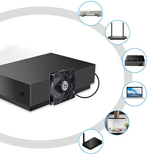 『ELUTENG 120mm ファン 静音 スピード 3段階調節 1500RPM/1250RPM/1000RPM 冷却ファン 強力 12cm パソコン USB FAN 卓上 Xbox PS ゲーム機 ルーター 冷却 対応 扇風機 薄型 サイレント 7枚羽根 省エネ USBファン』の2枚目の画像