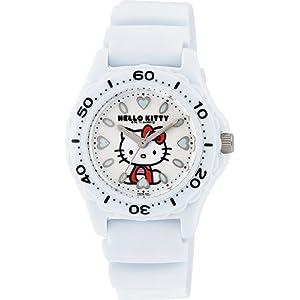 [シチズン キューアンドキュー]CITIZEN Q&Q 腕時計 Hello Kitty (ハローキティ) ダイバー アナログ表示 10気圧防水 ホワイト VQ75-431 レディース