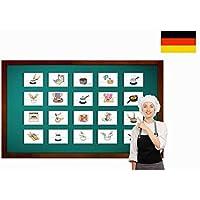 Food Preparation and Cooking Flash Cards in German - Bildkarten Essensvorbereitung