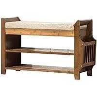 靴のラック靴のベンチを変更する竹の現代のシンプルさ靴のベンチを着用靴箱ストレージスツールテストシューズベンチフットスツールシンプルなスツール (サイズ さいず : 95cm)