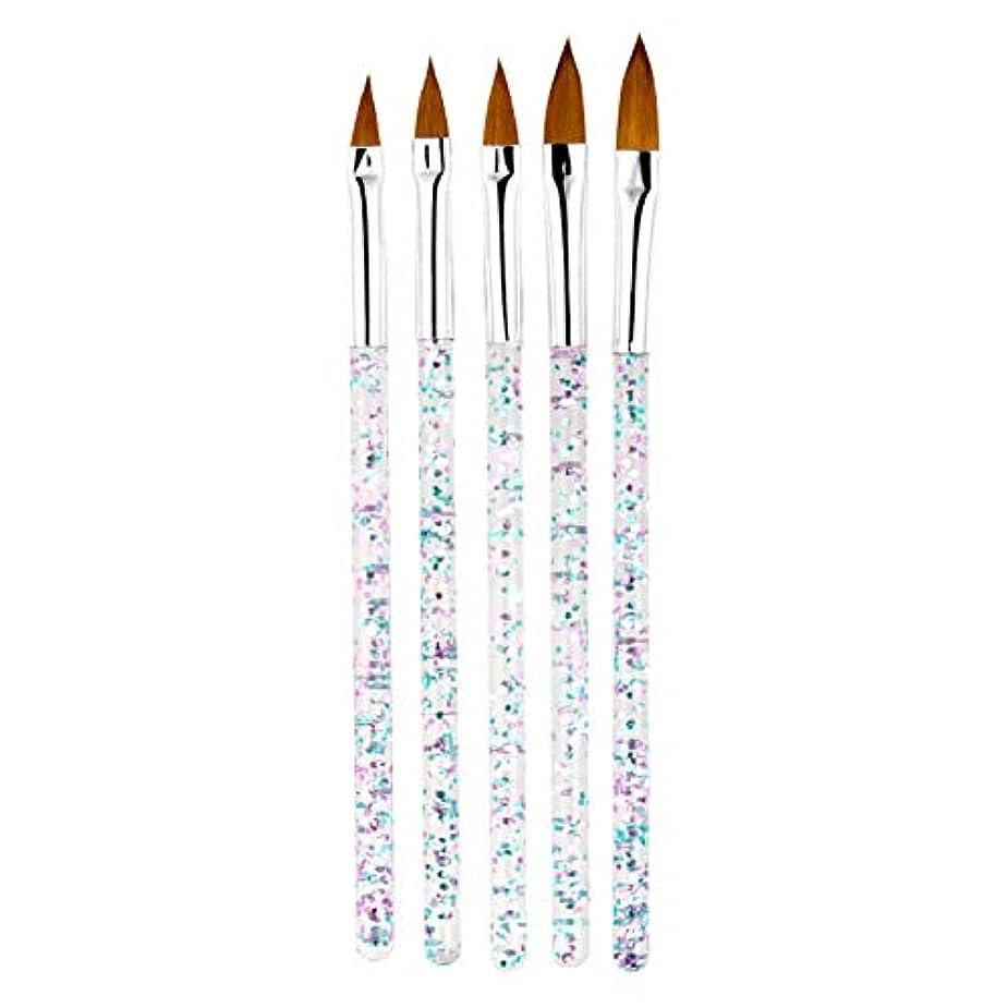 回転盲目ばかげたMCCRUA ネイルブラシ 5本セット スカルプネイルブラシ 可愛い アクリルネイル UV ジェルネイル ネイルアート筆