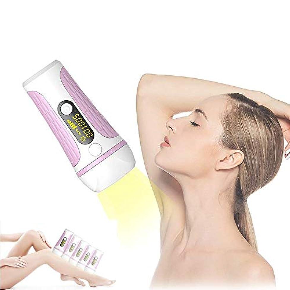 レーザー脱毛IPL光子の若返り永久フェイシャルビキニとボディポータブル脱毛器500,000フラッシュレーザーヘッド無痛と非刺激性LEDスクリーン