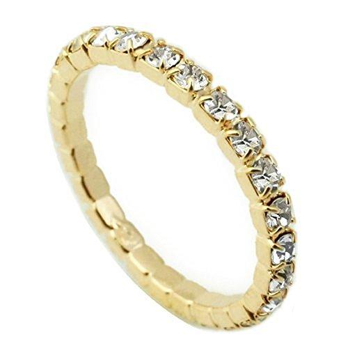 [해외]라인 스톤의 스트라이프 풀 영원 반지 핑키 링에도 니켈 프리 코팅/Rhinestone Stripe Furu Eternity Ring Nickel Free Coating for Pinky Ring