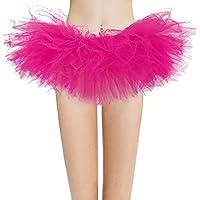 Dresstore Women's Vintage 5 Layered Tulle Tutu Puffy Ballet Bubble Skirt