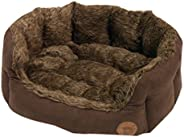 Petface Brown Lux Fur Oval Bed