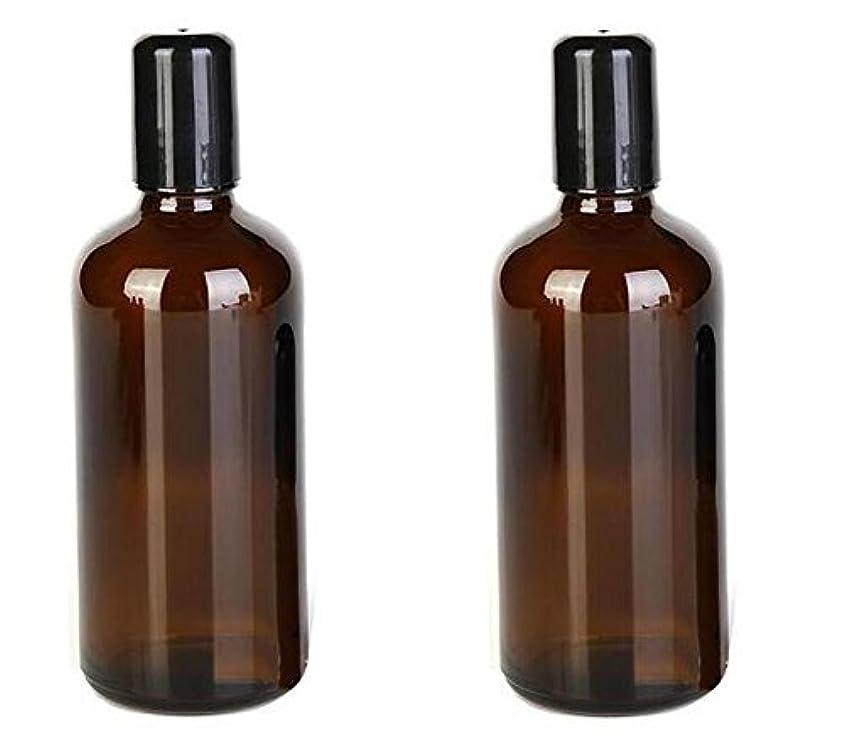 比類のないリハーサル明らかにする2PCS 100ML /3.4oz Amber Glass Empty Refillable Roll On Bottles With Metal Roller Balls Roll-On Container For Essential...