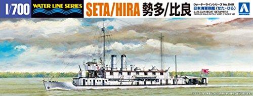 1/700 ウォーターライン No.543 日本海軍砲艦 勢多/比良