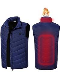 電熱ベスト usb加熱 バッテリー給電 電熱ジャケット 日本製のマイクロカーボンファイバーヒーター内蔵 温度3段階調整 作業着 バイク 釣り スキー 防寒ウェア 水洗い可 男女兼用