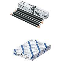 パナソニック 普通紙FAX用インクフィルム 2本入 KX-FAN191W + コクヨ コピー用紙 A4 白色度80% 紙厚0.09mm 500枚 FSC認証 KB-39N セット