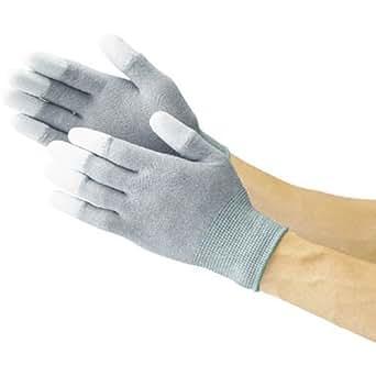 TRUSCO 静電気対策用手袋L(指先ウレタンコート)