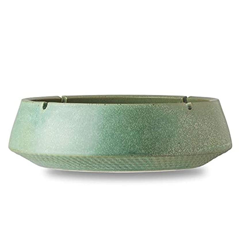コショウ畝間ナットクリエイティブエンボスセラミック灰皿大レトロホームリビングルームオフィス肥厚灰皿、デザインの安定性と格納するのは簡単に増すために厚く、レリーフ底の個性はもっと (色 : D)