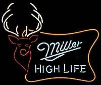 Miller High LifeアウトドアWild Buck Realガラスビールバー表示ネオンSign 19X 15