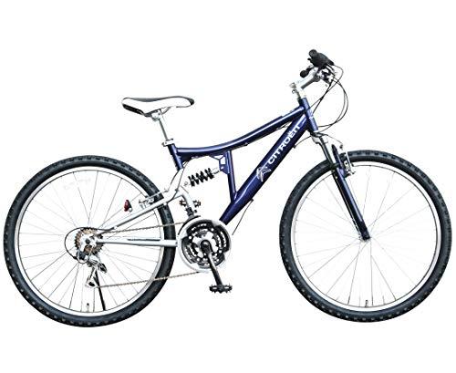 CITROEN(シトロエン) フルサスペンション ATB2618W-sus ブルー マウンテンバイク 26インチ シマノ製18段変速ギア搭載 前後Vブレーキ採用 Wサスペンション搭載 本格派 65108-0399