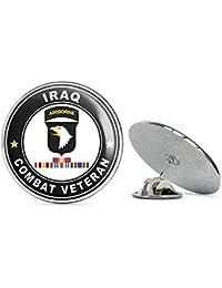 US Army 101st Airborne Division イラクとGWOT Ribbons Combat Veteran Metal 0.75インチ ラペルハットピン タイタック ピンバック