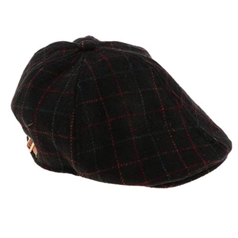 B Baosity 全4色 子供 ユニセックス 春 秋 冬 ハンチング帽 キャップ アウトドア ハンチング フラットキャップ