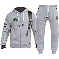 Boys Girls Designer Tracksuit Zipped Top Bottom Kids Jogging Suit Age 7-13 Years