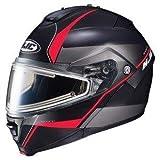 HJC エイチジェイシー IS-Max 2 Mine Snow Helmet-Electric Shield 2017モデル ヘルメット マットブラック/レッド M(57〜58cm)