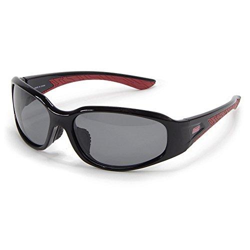 [Coleman] コールマン 軽量 スポーツサングラス サングラス UVカット 偏光レンズ メンズ/釣り ゴルフ アウトドア サイクリング プラスチックフレーム CM-4018-1 (ブラックスモーク)