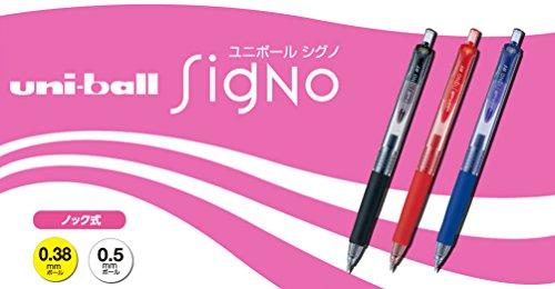 三菱鉛筆 ゲルボールペン シグノRT 0.38 UMN103.15 赤 10本