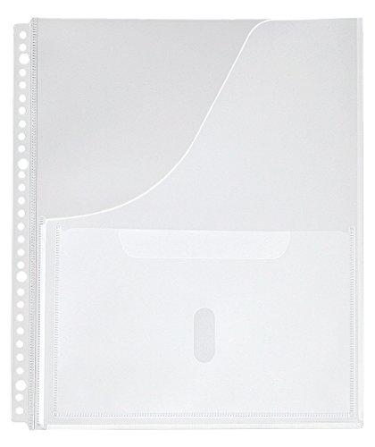 RoomClip商品情報 - キングジム 取扱説明書ファイル用ポケット  2630P A4S 30穴 4枚