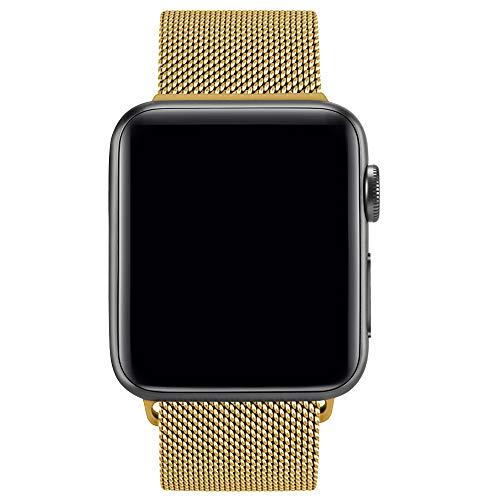 Vancle コンパチブル Apple Watch バンド 38mm 40mm 42mm 44mm ミラネーゼループ アップルウォッチバンド コンパチブルApple Watch Series4/3/2/1に対応 ステンレス留め金 (38mm/40mm, ゴールド)