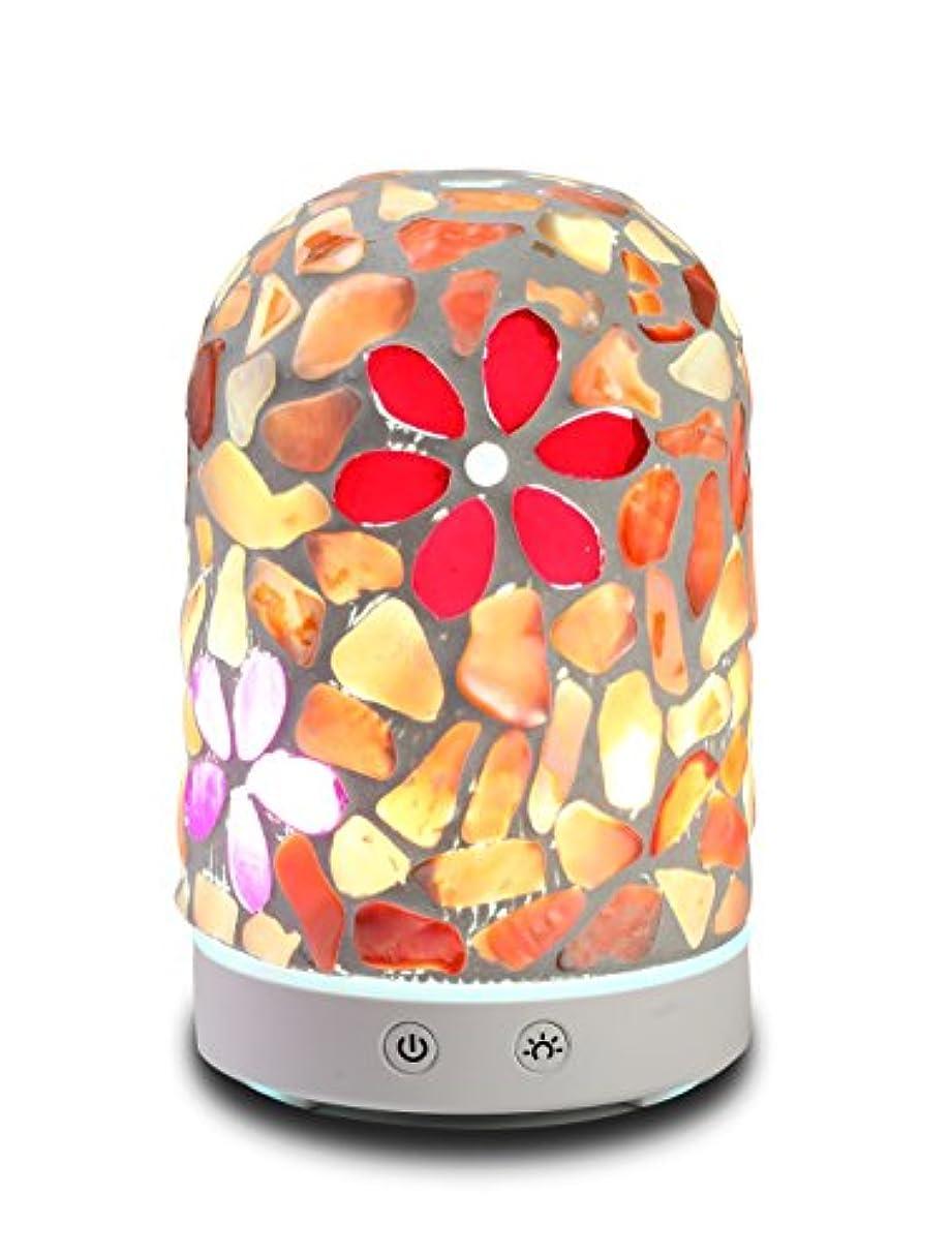 お尻インタラクションに向かってAAアロマセラピーアロマエッセンシャルオイルディフューザー加湿器120 ml Dreamカラーガラス14-color LEDライトミュート自動ライトChangingアロマセラピーマシン加湿器 Diameter: 9cm;...