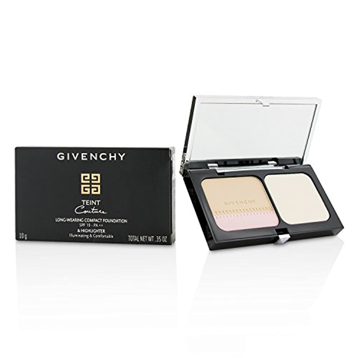 寝具保存第ジバンシィ Teint Couture Long Wear Compact Foundation & Highlighter SPF10 - # 2 Elegant Shell 10g/0.35oz並行輸入品