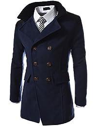 【Smile LaLa】 メンズ アウター コート ビジネス スーツ 紳士 シンプル ダブル ボタン 防寒 春 秋 冬