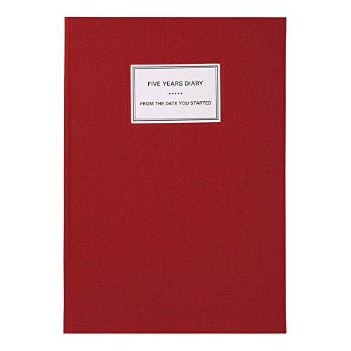 マークス 手帳 ダイアリー 年号フリー 1月始まり A5正寸 FYD 5年連用日記 ハードカバー レッド CDR-FYD01-RE