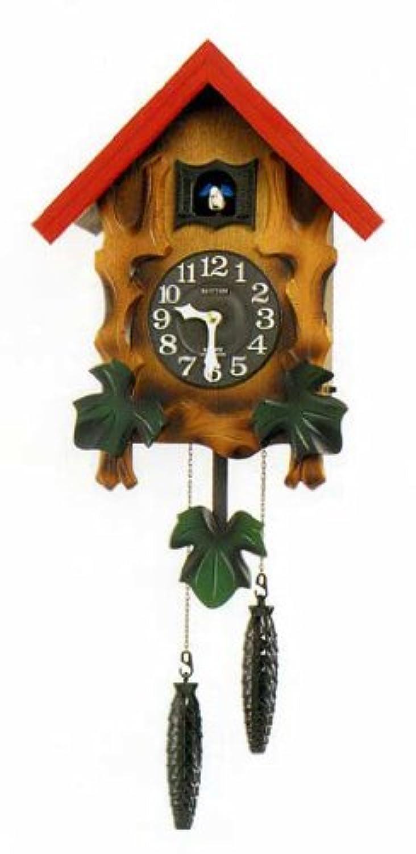 リズム時計 クオーツカッコークロック(報時付) カッコーメルビルR 彩色仕上 4MJ775RH06