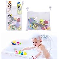 boxiki Kids 1ホルダー|メッシュキャディSet with 4滑り止め吸引カップ|バスルームシャワーOrganizer for Toys