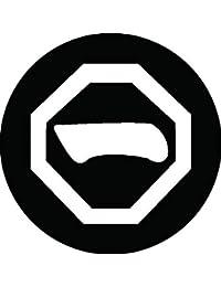 家紋シール 隅切り角に一文字紋 布タイプ 直径40mm 6枚セット NS4-0983